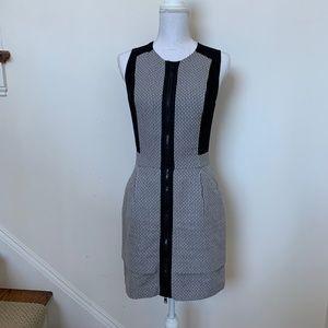A X Armani Exchange black dress w/white, grey SZ 4